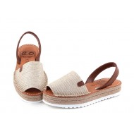 Sandale din piele naturala, Avarca Jute