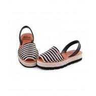 Sandale din piele naturala, Avarca Jute Black