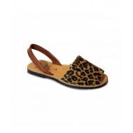 Sandale din piele naturala , Avarca Leopard