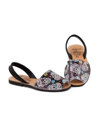 Sandale din piele naturala , Avarca KOP BLACK