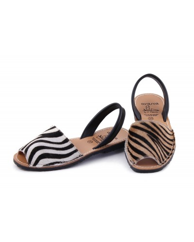 Sandale din piele naturala , Avarca Leopard Line